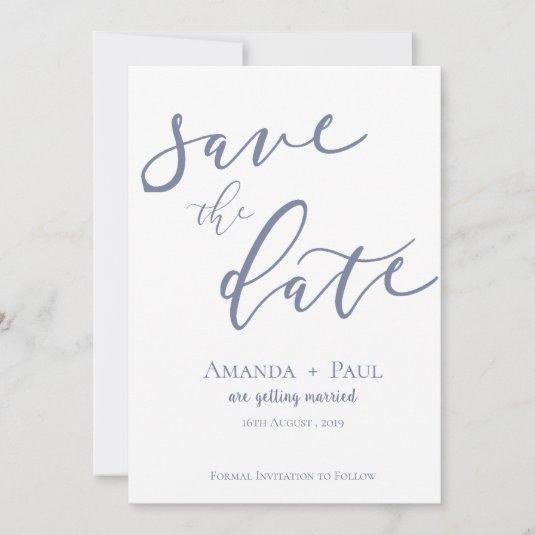 Elegant Simple  Script Wedding Save The Date