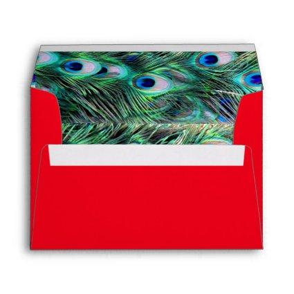Elegant Stylish Peacock Pattern Girly Cute Glitter Envelope