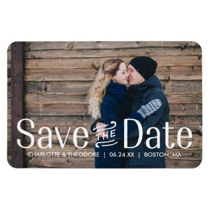 Elegant Type | Photo Save the Date Magnet