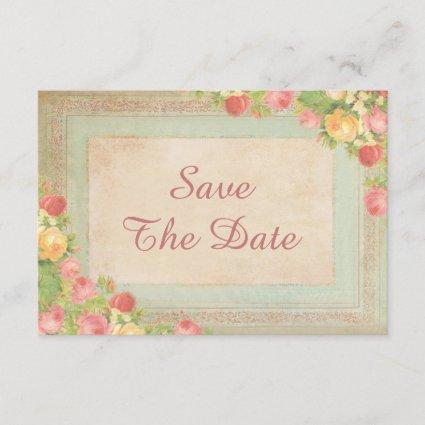 Elegant Vintage Roses 90th Birthday Save The Date