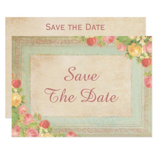 Elegant Vintage Roses 90th Birthday Save The Date Card