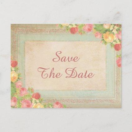 Elegant Vintage Roses 90th Save The Date Announcement