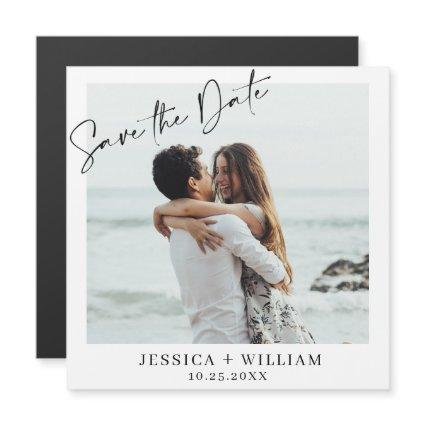 Elegant Wedding PHOTO Save the Date Magnetic Card