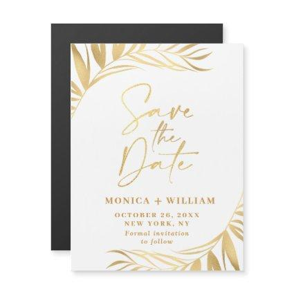 Elegant Wedding Save the Date Magnetic Card