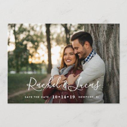 Elegantly Penned | Photo Save the Date