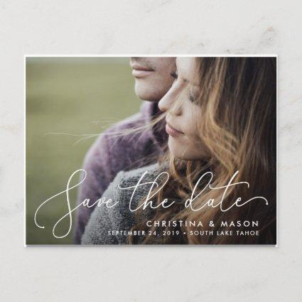 Elegantly Penned | Photo Save the Date Announcement