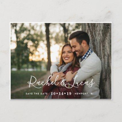 Elegantly Penned | Photo Save the Date Announcements Cards