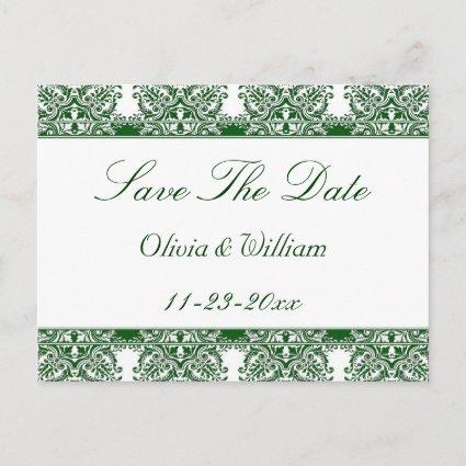 Emerald Damask Save The Date Cards