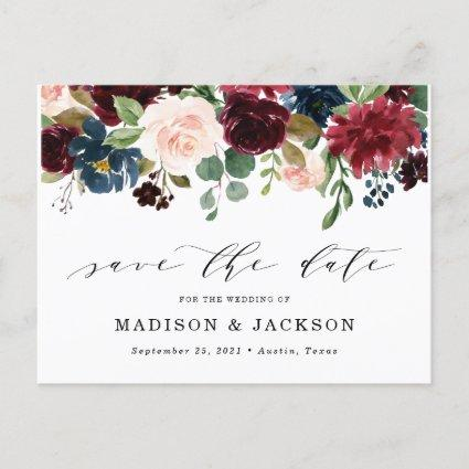 Enchanted Floral Save The Date Announcement