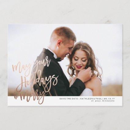 Engagement Christmas Cards, Save the Date Christmas