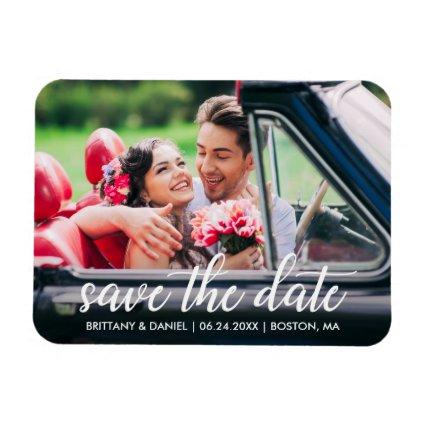Engagement Modern Script Save The Date Magnets