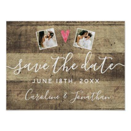 Engagement Photo Prop Wood Sign For Save the Date