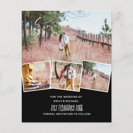 Engagement Photo Save the Date Custom Color BUDGET