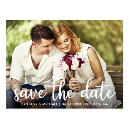 Engagement Save The Date Modern Photo