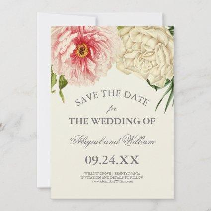 English Blooms Save the Date Cards