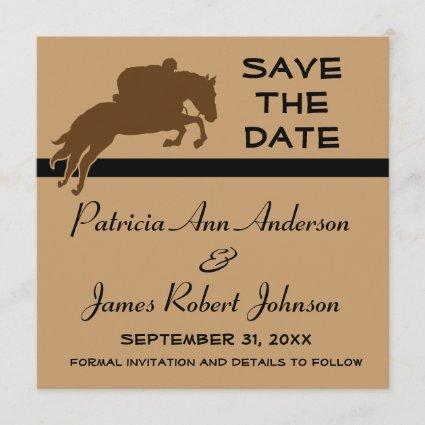 Equestrian Horse Animal Save The Date Wedding