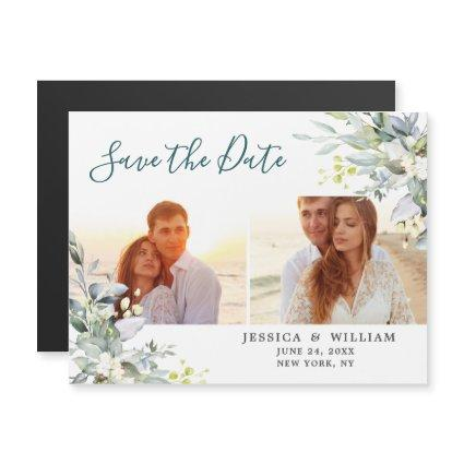 Eucalyptus 2 PHOTO Save the Date Magnetic Card