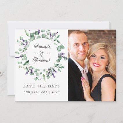 Eucalyptus Lavender Greenery Wedding Save The Date