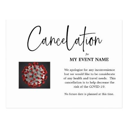 Event Cancelation  COVID-19