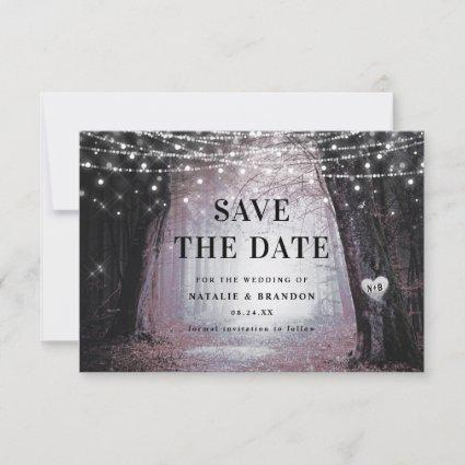 Evermore | Enchanted Fairy Forest | Mauve Wedding Save The Date