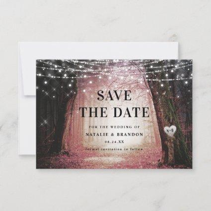 Evermore | Enchanted Fairy Forest | Pink Wedding Save The Date