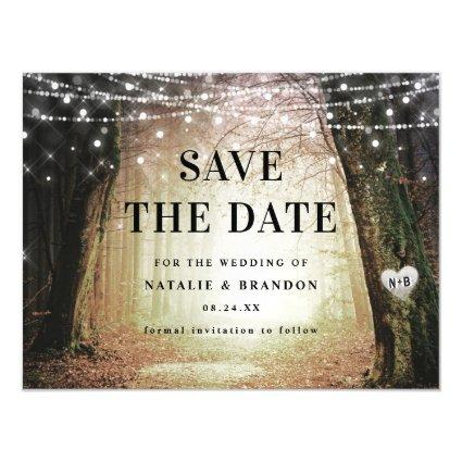 Evermore | Enchanted Forest Amber Save the Date Magnetic Invitation