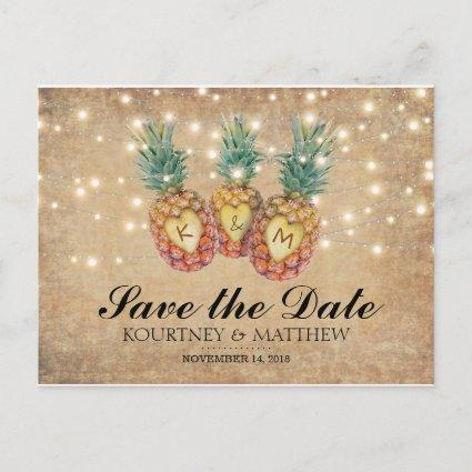 Exotic Pineapple Tropical Save the Date Announcement