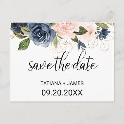 Exquisite Fall Floral Save the Date Card