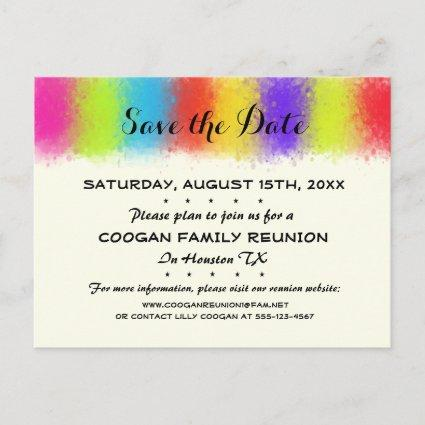 Eye Catching Reunion, Party or Event Save the Date Announcements Cards