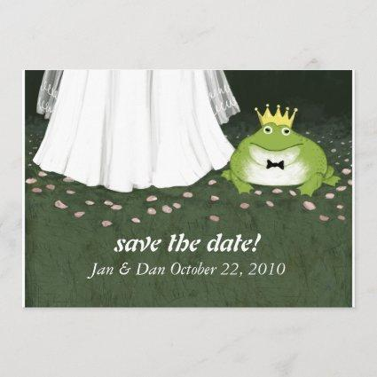 Fairy Tale Wedding Frog Prince Save the Date