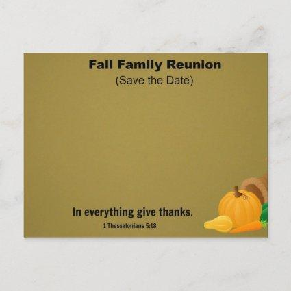 Fall Family Reunion: Save the Date. Announcement