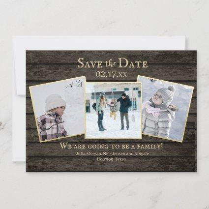 Family Adoption Rustic Wood Photo Save the Date
