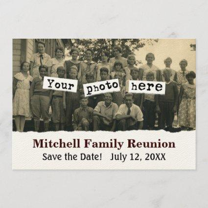 Family Reunion Announcements Photo Template