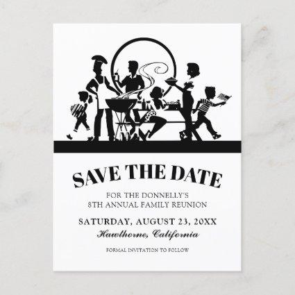 Family Reunion BBQ Party Save the Date Announcement