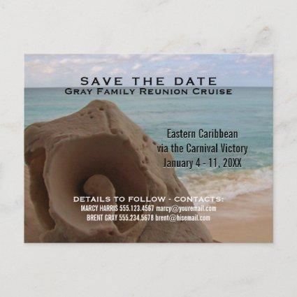 Family Reunion Cruise | Save the Date Beach Announcements Cards