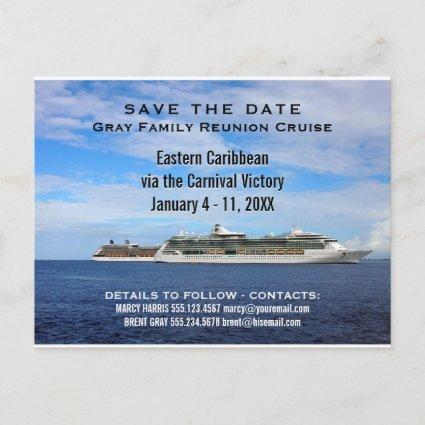 Family Reunion Cruise Ships | Save the Date Ocean Announcement
