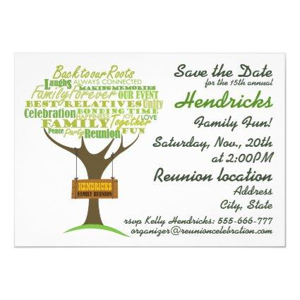 Family reunion design. invitation