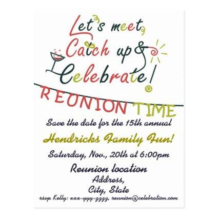 Family Reunion design Cards