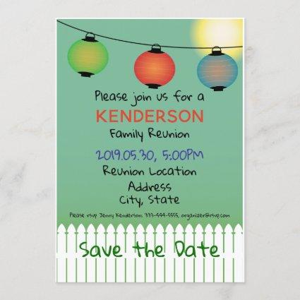 Family Reunion design Save The Date