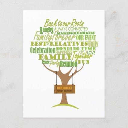 Family Reunion design with tree element Announcement