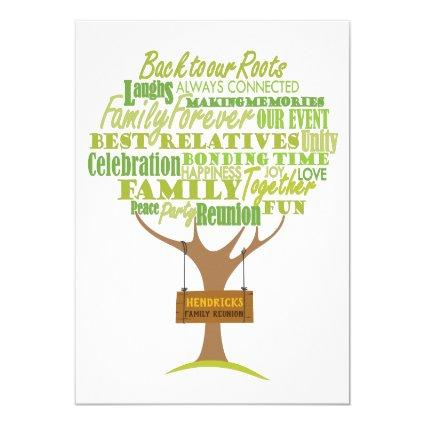 Family Reunion design with tree element Invitation