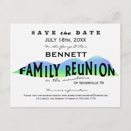 FAMILY REUNION IN THE MOUNTAINS SAVE THE DATE ANNOUNCEMENT