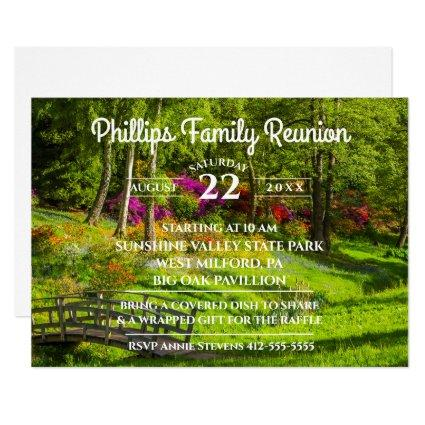 Family Reunion Park Invitation