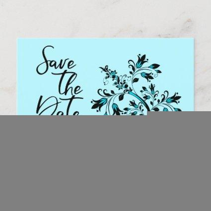 Family Reunion Save The Date Modern Teal Tree Announcement