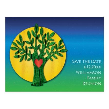 Family Reunion Save The Date Modern Tree