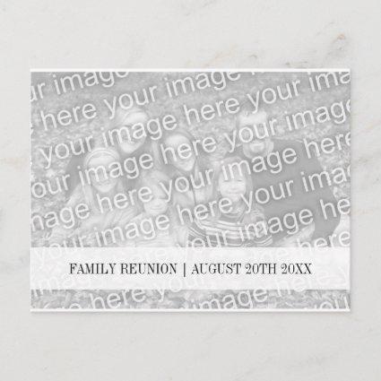 Family reunion Save the date photo s