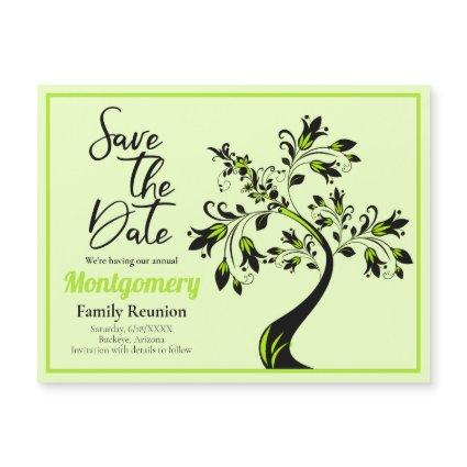Family Reunion Save The Date Tree Magnet Card
