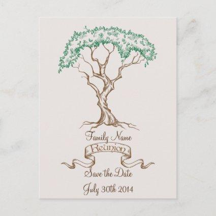 Family Reunion Tree Save the Date Announcement