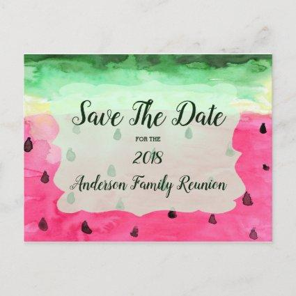 Family Reunion Watermelon Save The Date Announcement
