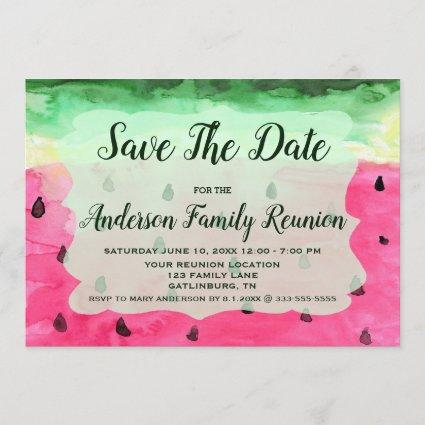 Family Reunion Watermelon Save The Date Invitation
